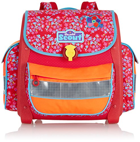 Scout Schulranzen-Set Basic Buddy Set 4 tlg Little Flowers 36 cm Rot 72400729000 - 2