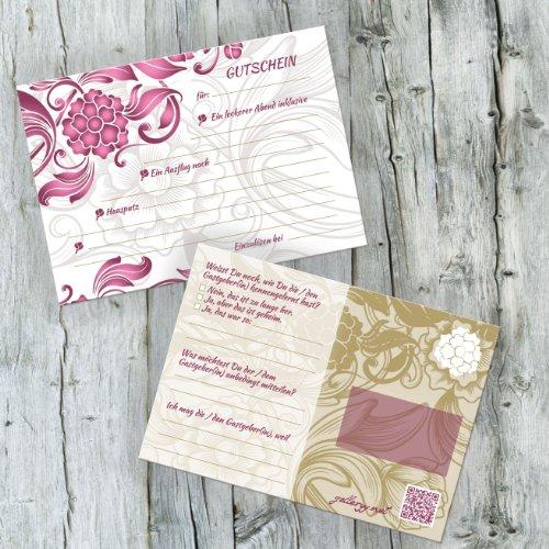 52 Postkarten Hochzeit – PORTOFREI möglich – Postkarten Set Hochzeit mit 52 Karten zur Hochzeit. Hochzeitsspiele mit Karten für Gäste und Brautpaar. Aufgabenkarten Floral