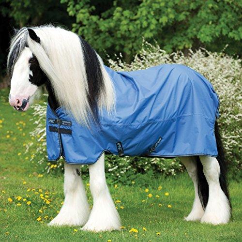 Horseware Amigo XL Hero 6 - Winterdecke oder Regendecke 155cm ohne Füllung Colony Blue with Gunmetal & Bluebell