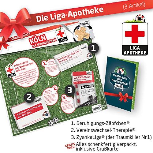 Geschenk-Set: Die Liga-Apotheke für FC Köln-Fans | 3X süße Schmerzmittel für 1. FC Köln Fans Fanartikel der Liga, Besser ALS Trikot, Home Away, Saison 18/19 Jersey