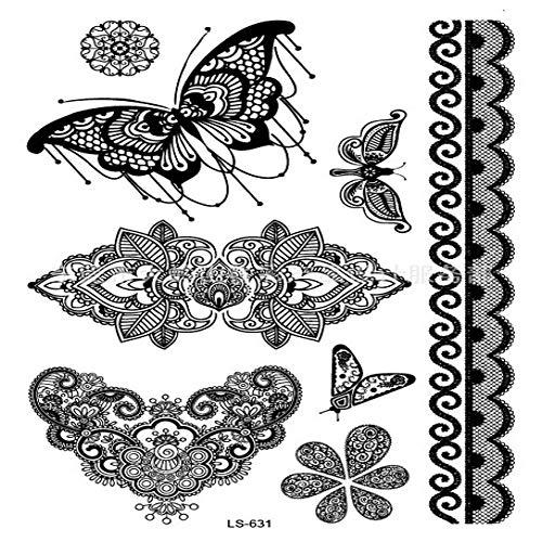 Handaxian 3pcs autoadesivo del tatuaggio impermeabile 3pcs ali di santo angelo tatuaggio 2