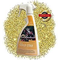 EMMA ♥ Spray criniera Glitter per Cavalli - Oro, Cura del Cavallo, Spray Cappotto, criniera Spray & Cura del Cavallo per Cappotto e Coda Spray & criniera, 500 ml