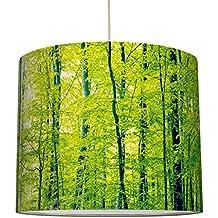 Anna Wand Lampenschirm Design GRÜNER WALD U2013 Schirm Für Lampen Mit  Wald Motiv In Grün