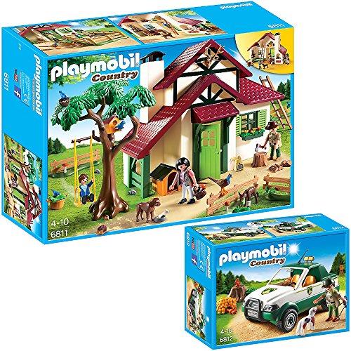 Preisvergleich Produktbild PLAYMOBIL® Country 2er Set 6811 6812 Forsthaus + Förster-Pickup