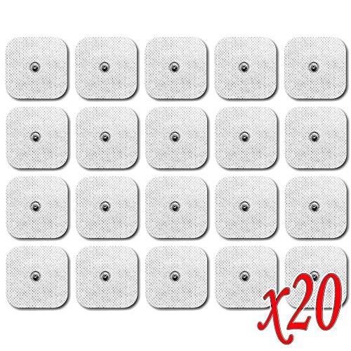 Ociodual 20 x Almohadillas para Tens Sem Electrodos Electode EMS Sanitas Beurer Pads
