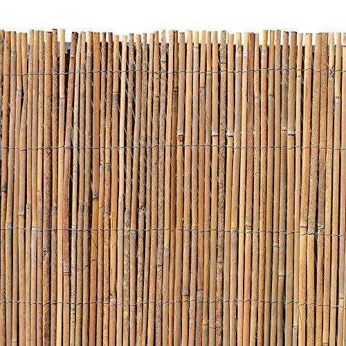ESTEXO Bambusmatte - Sichtschutzzaun, Gartenzaun, Natur, Bambus, Zaun, Sichtschutz, Windschutz (1,00m x 5,00m)