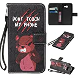 Coque Samsung Galaxy A3 2016 en Cuir,Samsung Galaxy A3 2016 Housse de Protection,Meet de Apple Samsung Galaxy A3 2016 Pliable Magnetique Portefeuille Wallet Silicone Back Étui avec Lanyard,Wallet / Case / Housse, Coque de protection en silicone TPU,Bookstyle Painting Rabat Shell Couvercle Housse Motif Flip Cover Clapet Case avec Fonction de Support et porte carte pour Samsung Galaxy A3 2016[Don't touch my phone]