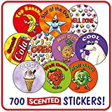 CP1 Pack of 700 mixed circular scented reward stickers