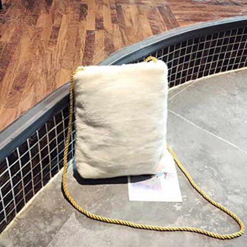 Longra Borsa a tracolla piccola a tracolla singola in materiale plastificato da donna Bianco