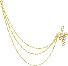 Pearl and Stone Mathapatti Mang Tikka for Women and Girls