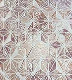 Tapete Abstraktes geometrisches Vintage in TNT Bronze Pflaume Puder in TNT waschbar Italian Wallpaper Design Central Park 51160205.