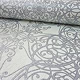 P&S International GMK Damask Wirbel-muster Tapete Glitzer Motiv Texturiert - Weiß Silber 02465-30