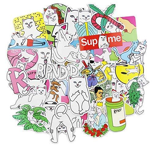 Sanmatic RipNDip Aufkleber Pack [50pcs], Aufkleber Graffiti Skateboard Aufkleber Laptop Cartoon Gepäck Aufkleber