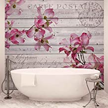 Blumen Holz Muster Vintage   Wallsticker Warehouse   Fototapete   Tapete    Fotomural   Mural Wandbild