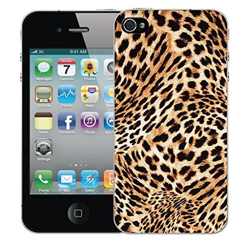 Mobile Case Mate iPhone 5 clip on Dur Coque couverture case cover Pare-chocs - blushing floral Motif cheetah print