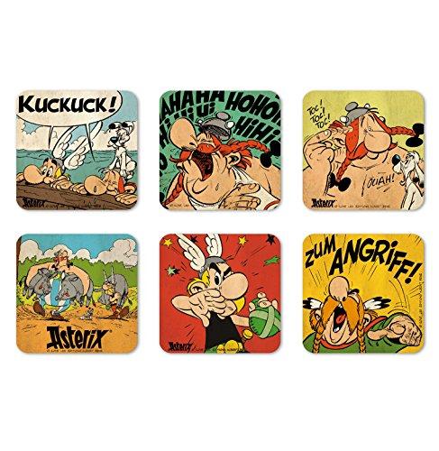 Logoshirt Comics - Asterix der Gallier - Asterix & Obelix - Mutige Gallier - Coaster - Untersetzer 6er Set - farbig