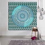 150cmx130cm Wandteppich, Hippy Mandala Bohemian Wandteppich, indisches Dorm Decor, Psychedelic-Deko-Set an der Wand oder Tagesdecke Foto-Studio-Hintergrund aus Polyester-Faser Stil 3