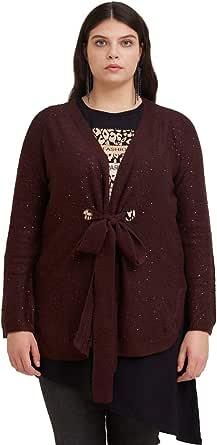 FIORELLA RUBINO : Cardigan Lungo con Paillettes Donna (Plus Size)