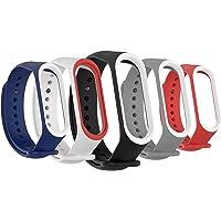 Sounce Adjustable Xiaomi Mi Band 3/ Mi Band 4 Watch Silicone Strap Band Bracelet - Set of 5