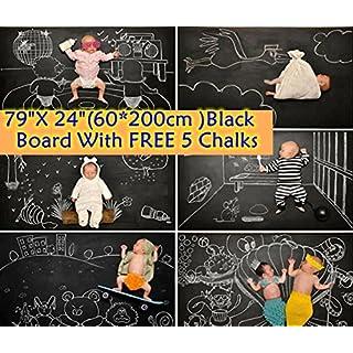 (60x200cm Schwarz)Selbstklebende Multifunktions-Tafelfolie-Wand-Aufkleber / Nachricht / Wandaufkleber - Vinyl Kontakt Papier für Restaurant-Menü-Tafel, Büro, Tapete, Kunst Zitate, Home Kitchen Aufkleber