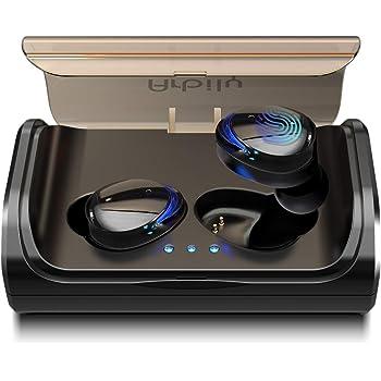 Arbily Écouteur Bluetooth Oreillette sans Fil Sportives de Charge 3000 mAh Réduction de Bruit CVC 6.0 Contrôle Tactile Écouteur Anti-Transpiration (Bleu)