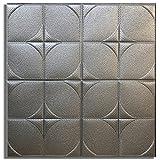 Deloito Wohnkultur 3D Backstein Wandaufkleber Selbstklebend Schaum-Tapete Panels Zimmer Aufkleber (Grau, 60cm*60cm)