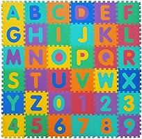VeloVendo® - Tappeto Puzzle con Certificato CE e Certificazione SGS in soffice Schiuma Eva | Tappeto da Gioco per...