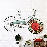 FortuneVin Wanduhr Bad Wanduhr mit Wanduhren lautlosem Uhrwerk Kein nerviges Ticken Retro Kreative Altes Fahrrad Uhr