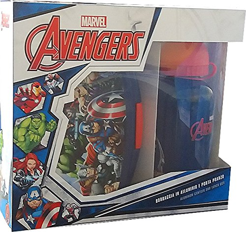 Star Licensing Set Lunchbox, Kunststoff und Aluminium, Mehrfarbig, 2Einheiten (Man Lunch-box-iron)