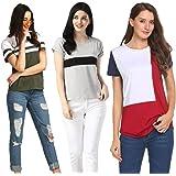 M Melcom Women's T-Shirt (Pack of 3)