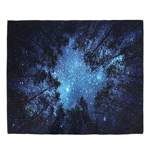 PYHQ Mandalas galaxia Tapices 100% Poliéster Colgando Mural Cobija Hippies bohemios Lámina cortina Mantel estera de yoga Tema tropical urbano psicodélico Estrella luna cielo estrellado 150_x_130_cm