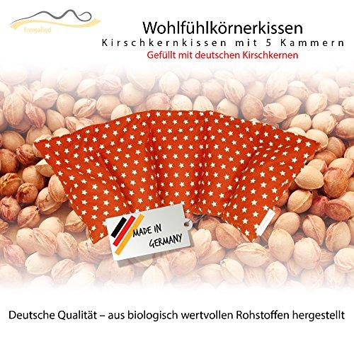 Cuscino con noccioli di ciliegia all'interno/cuscino da rilassamento per il trattamento termico - cuscino termico riscaldabile nel microonde // (rosso)