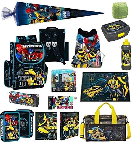 Familando Transformers Schulranzen Set 21tlg. mit Federmappe, Große Sporttasche und Schultüte 85cm PL