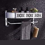Willsego Raum Einbauschrank Aluminium Toiletten Einbauschrank, Doppelhandtuchhalter Handtuchhalter WC Aufhänger (Farbe : 2)