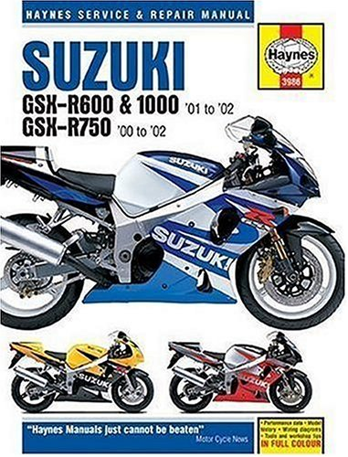 Haynes manuals inc the best amazon price in savemoney suzuki gsx r600 750 and 1000 service and repair manual 2001 2002 fandeluxe Gallery