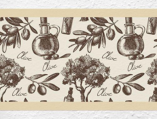 I-love-Wandtattoo b-10123 Küchenbordüre 'Olivenbaum' Bordüre Küche Deko Wanddeko
