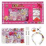 JWTOYZ DIY Perlen Set, DIY Armband Perlen Set mit Buchstaben, Perlen für Armbänder Kinder Schmuck Buchstaben, Kinder DIY Armband Perlenschmuck, Geburtstagsgeschenk für Mädchen
