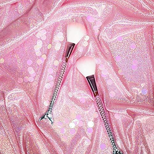 CC-Makeup Brush Pinceau de Maquillage Pinceau de Maquillage Professionnel Ensemble de Base synthétique Mélange Concealer Poudre Crème Cosmétiques Pinceaux de Maquillage * 2