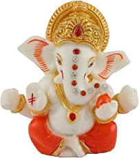 Ganesha Ganesh Ganpati Idol for Car Dashboard Hindu Figurine Showpiece