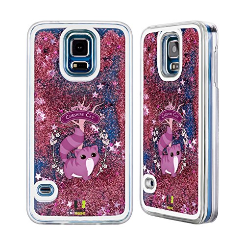 Head Case Designs Cheshire Le Chat Alice Au Pays Des Merveilles Étui Coque Liquide Scintillez Rose pour Apple iPhone 6 / 6s Cheshire Le Chat
