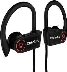 Chkokko Mercury M2 IPX5 Waterproof Wireless Bluetooth Earphones with Silicon Hooks and Mic (Black)
