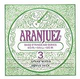 Aranjuez A400BP CONCERT SILVER Bass Bonus Pack, 3-Bass Juego, High (verde)