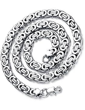 [Gesponsert]Flongo Herrenkette, 9mm Breit Edelstahl Halskette Königskette Kette Gold Silber 57cm Herrschsüchtig Rau Punk Rock...
