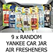 AMAZING VALUE PACK 9 x Assorted Yankee Candle Car Jar Air Hanging Air Fresheners