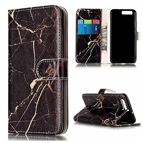Qiaogle Telefon Case - PU Leder Wallet Schutzhülle Case für Apple iPhone 7 (4.7 Zoll) - YH74 / Traumfänger YH77 / Schwarz