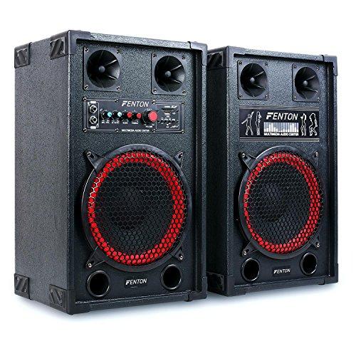 Fenton SPB 10 Set altoparlanti coppia altoparlanti diffusori attivo / passivo karaoke DJ