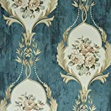 Blooming Wand 8220Vintage Grün Classic Blumen Floral Wallpaper, grün