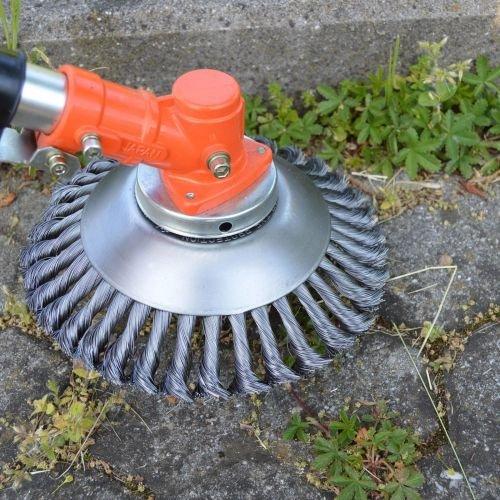 Unbekannt Profi Unkrautbürste Wildkrautbürste Fugenbürste Motorsense gezopft 25,4x200mm