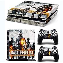 GNG Skin adhesivo de vinilo de Battlefield 1 de para la consola PlayStation 4 PS4 + set de 2 skins para los controladores