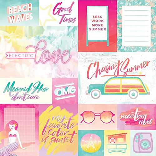 American Crafts Vacation Single-Sided Cardstock 12